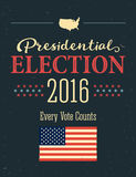 Presidential Election 2016 Posters. Vintage style design. Vertical format. Stock Photos