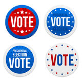 Presidential election stickers Stock Image