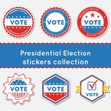 Presidential Election stickers collection. Royalty Free Stock Photos
