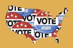Presidential Election 2020 royalty free illustration