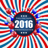 Presidential Election 2016 in USA Background. Can Be Used as Ban. Ner or Poster. Vector Illustration EPS10 Royalty Free Stock Photos