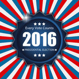Presidential Election 2016 in USA Background. Can Be Used as Ban Stock Image