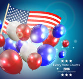 Presidential Election 2016 in USA Background. Can Be Used as Ban. Ner or Poster. Vector Illustration EPS10 Stock Images