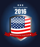 Presidential Election 2016 in USA Background. Can Be Used as Ban Stock Photo