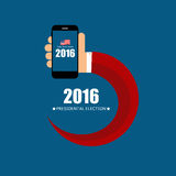 Presidential Election 2016 in USA Background. Can Be Used as Ban. Ner or Poster. Vector Illustration EPS10 Royalty Free Stock Photography