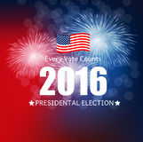 Presidential Election 2016 in USA Background. Can Be Used as Ban Stock Images