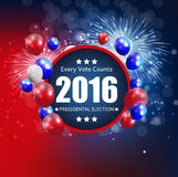 Presidential Election 2016 in USA Background. Can Be Used as Ban. Ner or Poster. Vector Illustration EPS10 Royalty Free Stock Images