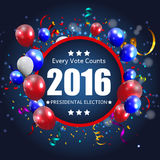 Presidential Election 2016 in USA Background. Can Be Used as Ban. Ner or Poster. Vector Illustration EPS10 Stock Photography