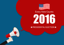Presidential Election 2016 in USA Background. Can Be Used as Ban. Ner or Poster. Vector Illustration EPS10 Stock Image
