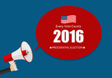 Presidential Election 2016 in USA Background. Can Be Used as Ban. Ner or Poster. Vector Illustration EPS10 Royalty Free Stock Photo