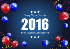 Presidential Election 2016 in USA Background.. Can Be Used as Banner or Poster. Vector Illustration EPS10 Stock Photos