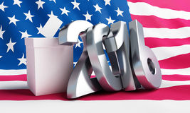 Presidential election USA in 2016. 3d Illustrations Royalty Free Stock Images
