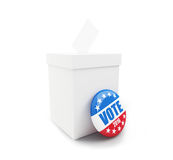Presidential election USA in 2016. White background Stock Image