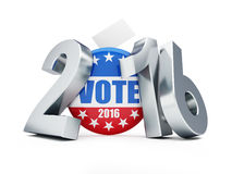 Presidential election USA in 2016 white background 3D illustration. Presidential election USA in 2016 white background Stock Illustration