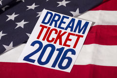 Presidential Election Vote and American Flag. Dream ticket Royalty Free Stock Photos
