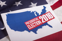 Presidential Election Vote and American Flag Royalty Free Stock Image