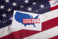 Presidential Election Vote and American Flag. Republican election on textured American flag Stock Photography