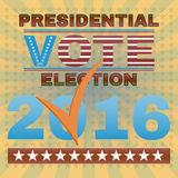 Presidential Election Vote 2016 Banner. Election Day Campaign Ad Flyer. Social Promotion Banner. Presidential Election Vote 2016. American Flag's Symbolic Stock Photo