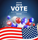 Presidential Election Vote 2016 in USA Background. Can Be Used a. S Banner or Poster. Vector Illustration EPS10 Stock Images