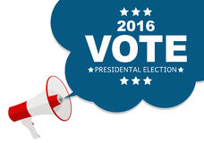 Presidential Election Vote 2016 in USA Background. Can Be Used a. S Banner or Poster. Vector Illustration EPS10 Royalty Free Stock Photo