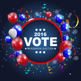 Presidential Election Vote 2016 in USA Background. Can Be Used a. S Banner or Poster. Vector Illustration EPS10 Royalty Free Stock Image