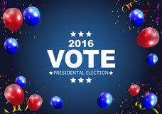 Presidential Election Vote 2016 in USA Background. Can Be Used a. S Banner or Poster. Vector Illustration EPS10 Stock Image