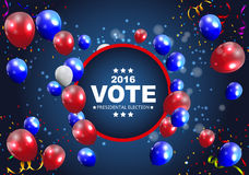 Presidential Election Vote 2016 in USA Background. Can Be Used a. S Banner or Poster. Vector Illustration EPS10 Stock Photos