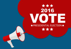 Presidential Election Vote 2016 in USA Background. Can Be Used a. S Banner or Poster. Vector Illustration EPS10 Stock Photography