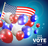 Presidential Election Vote 2016 in USA Background. Can Be Used as Banner or Poster. Vector Illustration EPS10 Stock Images
