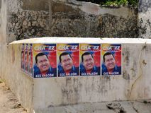 Presidential elections in Venezuela in 2012, election poster Hugo Chavez Royalty Free Stock Photo