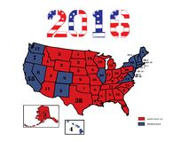 Presidential Electoral Maps 2016 Stock Photos