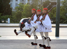 Presidential Guard Changing outside Parliament Building at Athens, Greece Stock Photos