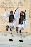 Presidential Guard Changing outside Parliament Building at Athens, Greece royalty free stock photo