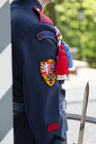 Presidential guard near sentry box in Hradcany, Prague Castle, Czech Republic Stock Photography