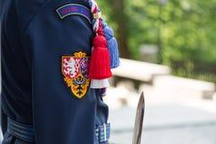 Presidential guard near sentry box in Hradcany, Prague Castle, Czech Republic Stock Image