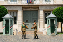 Presidential guards, Budapest, Hungary Royalty Free Stock Photography