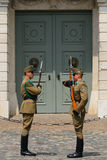 Presidential guards, Budapest, Hungary Royalty Free Stock Photo