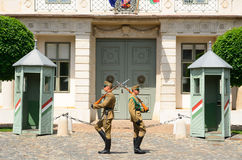 Presidential guards, Budapest, Hungary Stock Image