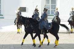 Presidential guards on a horses Stock Photos