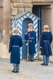 Presidential guards at Prague Castle in Prague Stock Photos