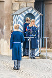 Presidential guards at Prague Castle in Prague Royalty Free Stock Images