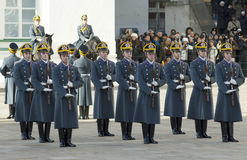 Presidential guards in row royalty free stock image