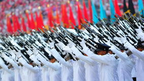 Presidential gun salute during NDP 2010 royalty free stock photography