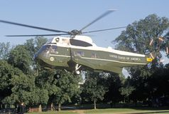The Presidential helicopter taking off in Washington, D.C. Royalty Free Stock Image