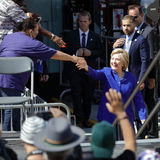 Presidential Hillary Clinton Attends 'Get out the Vote' rally, L Royalty Free Stock Photos