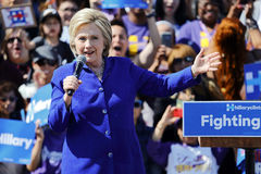 Presidential Hillary Clinton Attends 'Get out the Vote' rally, L Royalty Free Stock Image