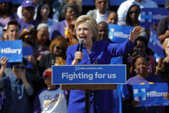 Presidential Hillary Clinton Attends 'Get out the Vote' rally, L Royalty Free Stock Images
