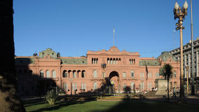 Presidential house of Buenos Aires. BUENOS AIRES - MARCH 27: The famous Casa Rosada on March 27, 2013 in Buenos Aires Stock Image
