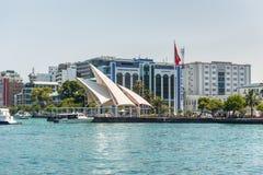 Presidential Jetty in Male island. Republic of the Maldives. Stock Photo
