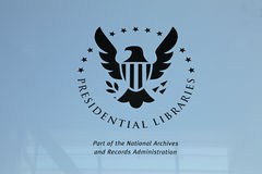 Presidential Libraries seal Royalty Free Stock Image
